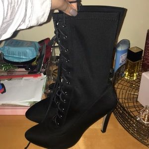 Black lace up booties. Great condition.